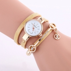 2018 Women watches luxury Analog Alloy Quartz Watch PU Leather Bracelet Watches Gift yellow