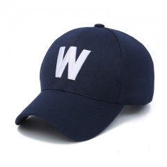 2018 summer baseball cap Ms. sun hat letter autumn leisure hip-hop cap Golf sports cap dark blue