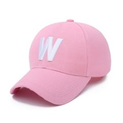 2018 summer baseball cap Ms. sun hat letter autumn leisure hip-hop cap Golf sports cap pink