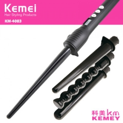 4 Interchangeable Part LCD temperature display Hair Curling Iron Machine Ceramic Hair Curler Set black normal