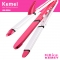 3 In 1 Ceramic Iron Hair Styling Multifunction Barrel Clamp Straighter Wave Curler Hair Curlers white normal