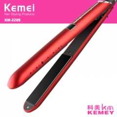 2 in 1 Hair Straightener Flat Iron Hair Curler Fast Heating Hair Curling Iron Hair Styling Tool red normal