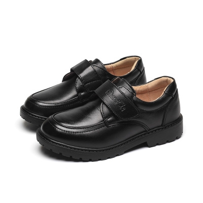 New Kids Genuine Leather Shoes For Boys Children Black Wedding Formal Wedge Sneakers