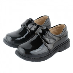 Boys Leather Shoes Black Children Shoes Leather Shoes For Kids Baby Rubber Pattern chaussure enfant black 26