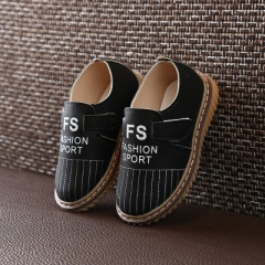 Spring Children Leather Shoes Simple Girls Shoes White Shoes Kids White Sneakers Boys Leisure Shoe black 21