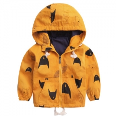 Boys Jacket Coat Fleece Outwear Warm Jacket For Boy Kids Winter Jacket Children Fleece Windbreaker yellow 90cm