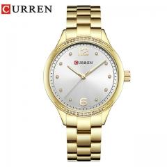 Relogio Feminino Curren Watches Women Luxury Gold Quartz Watch Elegant Wristwatch Gifts For Lady gold white