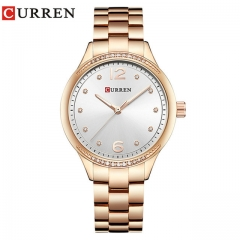 Relogio Feminino Curren Watches Women Luxury Gold Quartz Watch Elegant Wristwatch Gifts For Lady rose white