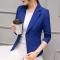 2018 Women Jackets Long Sleeves Office Lady Single Button Women Suit Jacket Female Feminine Blazer blue s