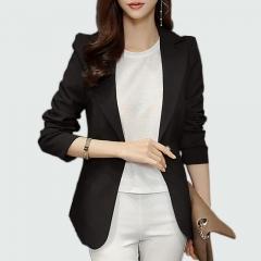 2018 Ladies Blazer Long Sleeve Blaser Women Suit Jacket Office Lady Female Feminine Blazer Femme black s