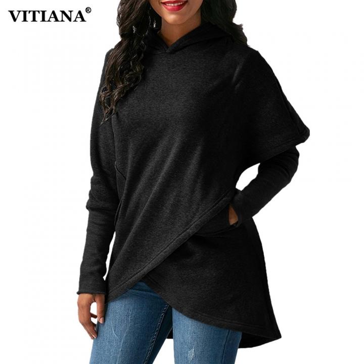 Women Winter Warm  Hoodies sweatshit Coat Female Autumn Long Sleeve Pocket wool Pullover Outerwear black xl