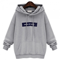 Women Sweatshirts Letter Printed Pullovers Tops Female Hoody Hoodies With Pockets Pink Hooded Tops grey s