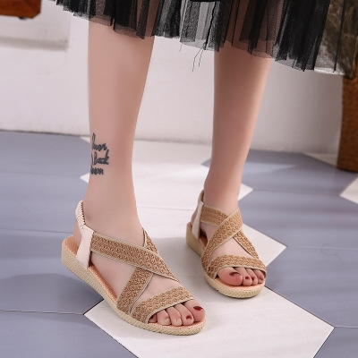f4e3998e4 ... Summer Ladies Women Leisure Gladiator Sandals Fashion Cross Flat Roman  Shoes white 35  Product No  1320359. Item specifics  Seller SKU h1111   Brand