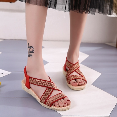 eed2c30c8 Latest Arrival Summer Ladies Women Leisure Gladiator Sandals Fashion Cross  Flat Roman Shoes red 38  Product No  1320369. Item specifics  Seller  SKU h1111 ...