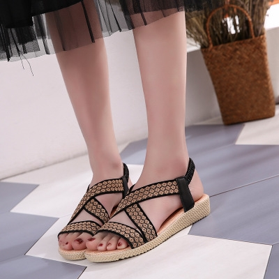 c7181017ab4 ... Summer Ladies Women Leisure Gladiator Sandals Fashion Cross Flat Roman  Shoes black 39  Product No  1320384. Item specifics  Seller SKU h1111   Brand