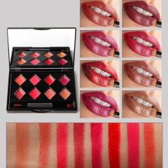 Gloss Set Plate Makeup Waterproof Lipstick Sets Matte Long Lasting Nude Lip GlossTint Palette #02