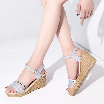 04c47d75053 Summer Style Sexy Wedges High Platform Heels Sandals for Women s with Shoes  Woman Wedding Ladies silver 36  Product No  1360915. Item specifics  Seller  ...