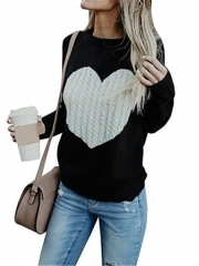 2018 Hot Sweater ladies korea lace up knitted women sweaters and pullovers loose winter sweater black s