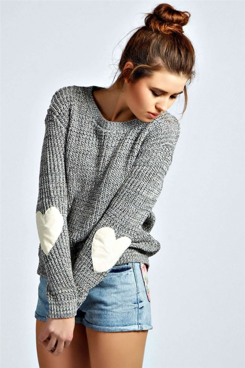 2018 Hot Sweater ladies korea lace up knitted women sweaters and pullovers loose winter sweater grey s