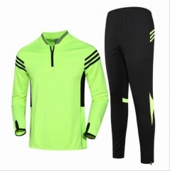 2018 Russia World Cup autumn long-sleeved training suit men and women children's sports jersey green xxs