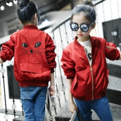 Children Girls Clothes Kids Baseball Coats Toddler Fashion Brand Jacket Baby Outwear For Boy Coat red 120cm