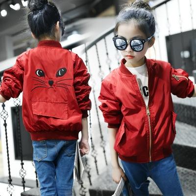 67fe12ebe34e Children Girls Clothes Kids Baseball Coats Toddler Fashion Brand ...