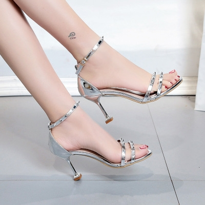 db3c174f0f9 Women High Heels Sandals T-Stage Classic Dancing Heeled Sandals Sexy  Stiletto Party Wedding Shoes silver 38  Product No  1478044. Item  specifics  Brand