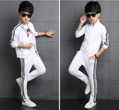 2018 Boys Girls Suits Top + Pants 2 Pieces Boys Clothes Girls Clothing Set Boy Girl Children's Sets white 120cm