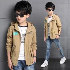 2018 Kids Hoodies Boy Spring  Hoodies Winter Jackets For Boy Children  Boy Jacket Boys Jacket Coat khaki 120cm