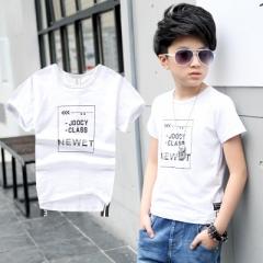 2018 Boy T Shirt Letter Pattern Boys Clothes Kids Short Sleeve t-Shirt Tops Baby Boy Summer Clothes white 120cm cotton