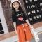 2018 Girls Clothes Sets Casual Style Girl Suits Casual T Shirt+Pants 2Pcs/set Kids Children Suits black 110cm