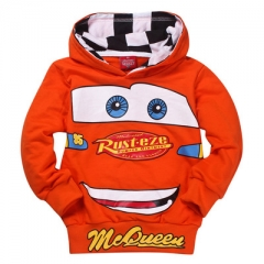 Cartoon Car Elsa Anna Boys Girls Sport Hoodies Outerwear Children School Clothing 3-8T Kid sweater red 100cm