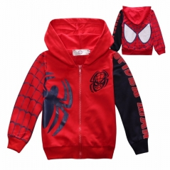 Spring Autumn Children's Coat boys embroidered hoodie jackets Kids cartoon Clothes baby outerwear red 100cm