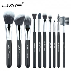 JAF Professional 10Pcs Makup Brushes Set Premiuim Foundation Powder Make-up Blusher Cosmetic as picture
