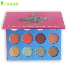 12 Colors EyeShadow Palette Make Up Wet Powdered Matte Glitter Diamond Eye Shadow Makeup Palette red