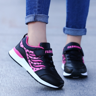 942be475cd21 2018 Children Shoes girls Sport Shoes Comfortable Outdoor Breathable Kids  Sneakers For girl Shoes black 28