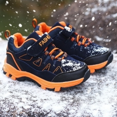 2018 Children Shoes Boys Sport Shoes Comfortable Outdoor Breathable Kids Sneakers For Boy Shoes dark blue 30