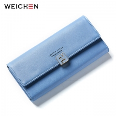 Women Long Wallet Clutch Soft Leather Female Wallets Purse Ladies Phone Pocket Coin Card Holder blue one size