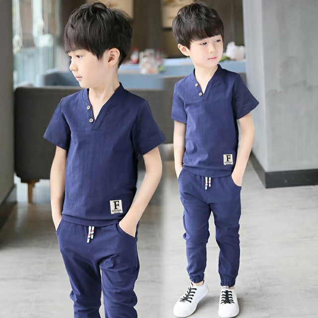 9030d44db1f0 Boys Clothing Sets Summer Baby Boys Clothes Suit Cool Style Comfortable T  Shirt +Pants 2pcs Clothes dark blue 150cm  Product No  1563877. Item  specifics ...