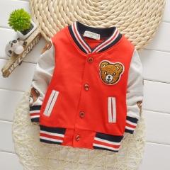 2018 Children Girls Clothes Kids Baseball Sweatershirt Toddler Jacket Spring Autumn Baby Outwear red 80cm