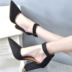 Women High Heels Sandals T-Stage Classic Dancing Heeled Sandals Sexy Stiletto Party Wedding Shoes black 34