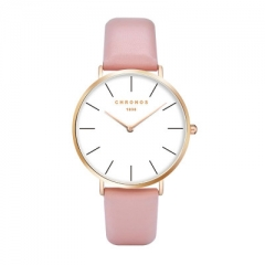 Luxury Watch Men Women Rose Gold Silver Casual Quartz-Watch Leather Watche 40mm Clock Relojes Mujer pink