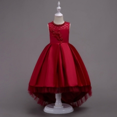 Girls Dress Princess Infant Dresses For Girls New Design Vestido Infantil Kids Party Wedding Clothes red 150cm