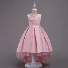 Girls Dress Princess Infant Dresses For Girls New Design Vestido Infantil Kids Party Wedding Clothes pink 170cm