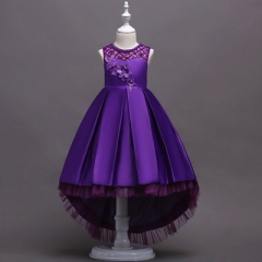 Girls Dress Princess Infant Dresses For Girls New Design Vestido Infantil Kids Party Wedding Clothes purple 110cm