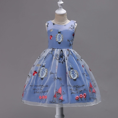 b6133d848f Summer Flower Girl Dress Ball Gowns Kids Dresses For Girls Party Princess  Girl Clothes Dress blue 170cm  Product No  1770674. Item specifics  Brand