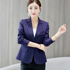 2018 New Long-sleeved Slim Women Blazers And Jackets Small Women Suit Korean Version  Ladies Blazer navy m