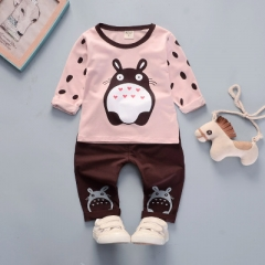 2018 Autumn casual cartoon kid suit children set baby girl clothes girls clothing clothing set pink 80cm