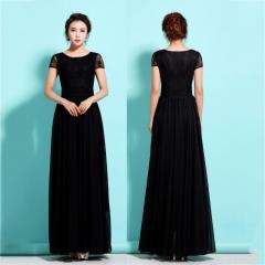 Fashion Hot Women's Elegant Lace Boho Long Dress Party Wedding Ball Gown Long Dress s black