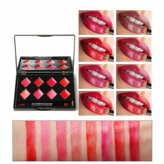 Gloss Set Plate Makeup Waterproof Lipstick Sets Matte Long Lasting Nude Lip GlossTint Palette #01